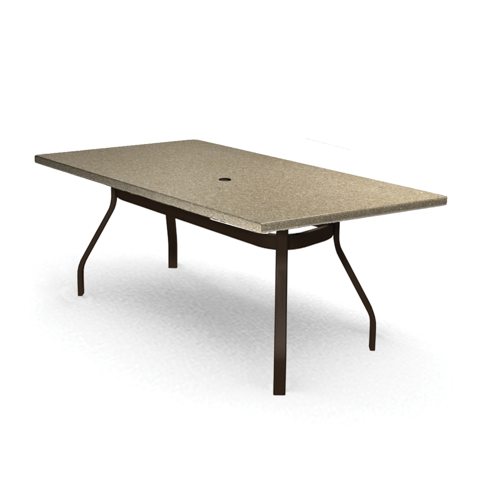 Homecrest Stonegate 42 inch by 62 inch Rectangle Balcony Table - 374262BSG