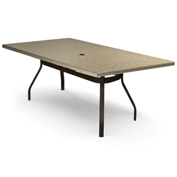 Homecrest Stonegate 42 inch by 84 inch Rectangle Balcony Table - 374284BSG