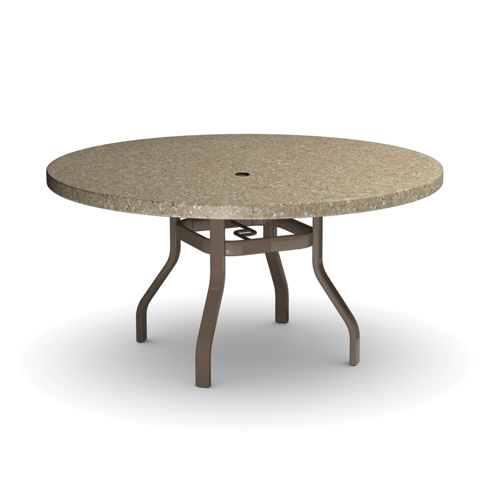 Outdoor round dining table - Homecrest Stonegate 54 Inch Round Dining Table 3754rdsg