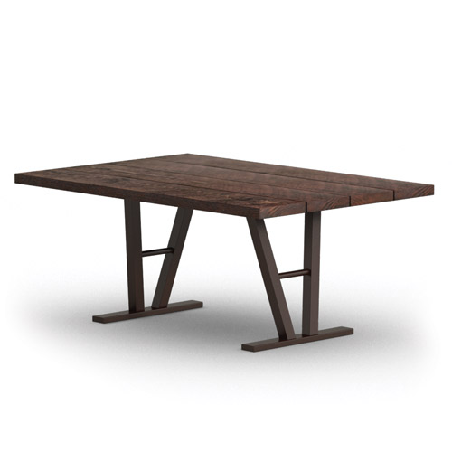 Homecrest Timber 42 Inch x 62 Inch Dining Table w/ Architectural Base - 354262D
