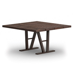 Homecrest Timber 48 Inch Square Dining Table w/ Architectural Base  - 3548SD