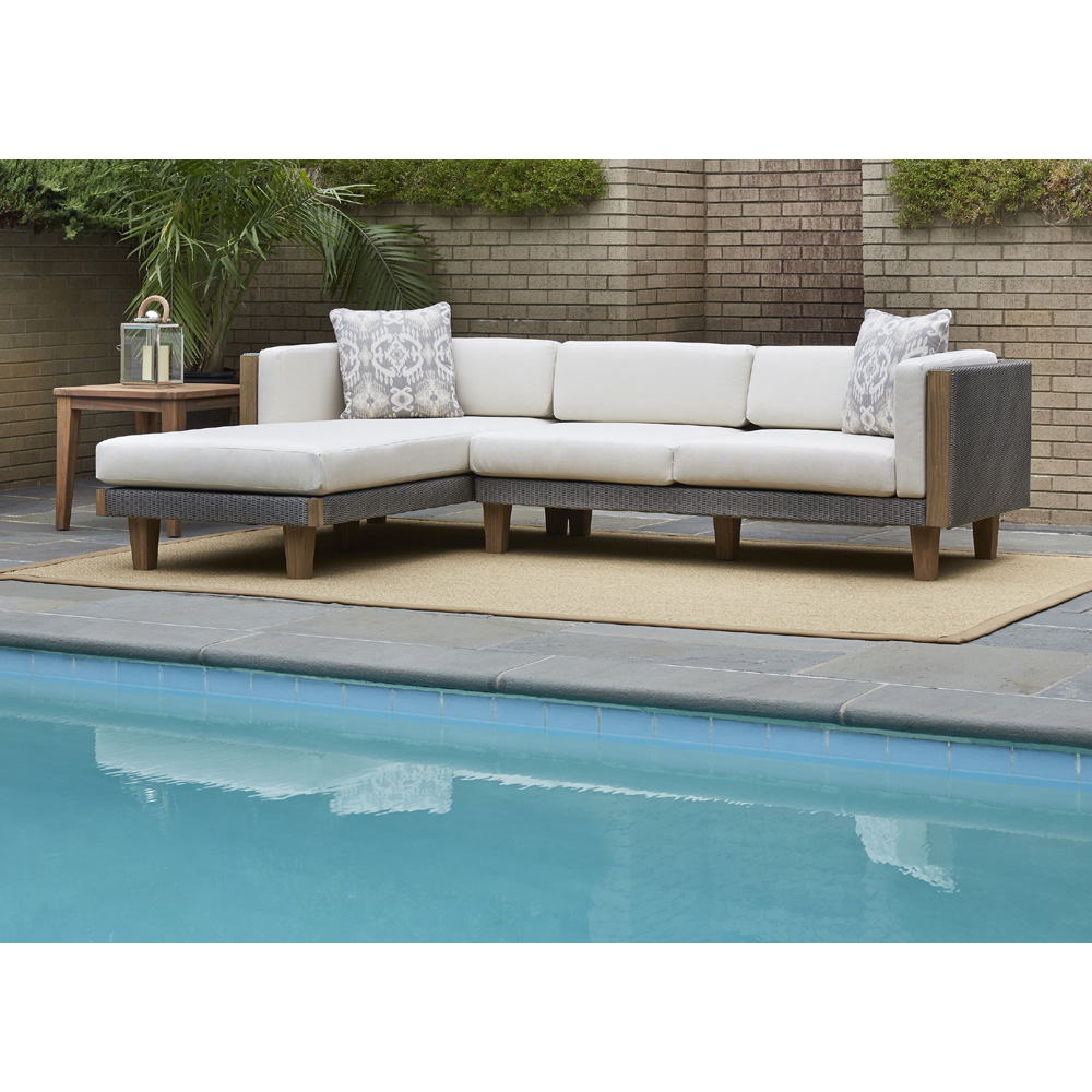 Lloyd Flanders Catalina Outdoor Wicker L Sectional With