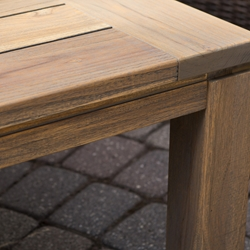 Lloyd Flanders Distressed Teak Tables
