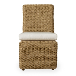 Lloyd Flanders Cayman Armless Wicker Dining Chair with Seat Cushion - 281007