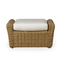 Lloyd Flanders Cayman Wicker Ottoman with Cushion - 281017