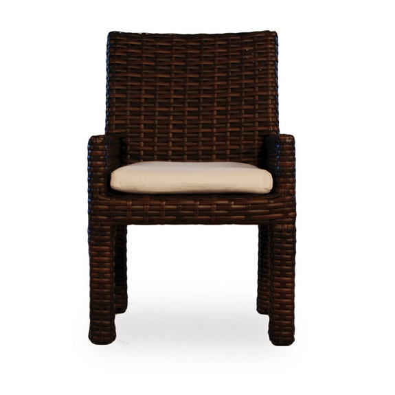 Lloyd flanders contempo woven vinyl wicker dining arm chair 38001 - Contempo wicker outdoor furniture ...