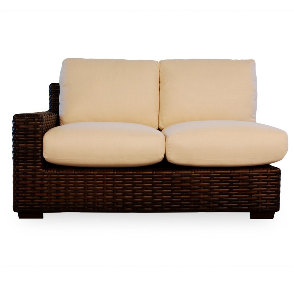 Lloyd flanders contempo small woven vinyl wicker patio for Small outdoor sofa