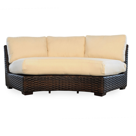 Lloyd flanders contempo woven vinyl wicker curved for Outdoor furniture covers for curved sofa