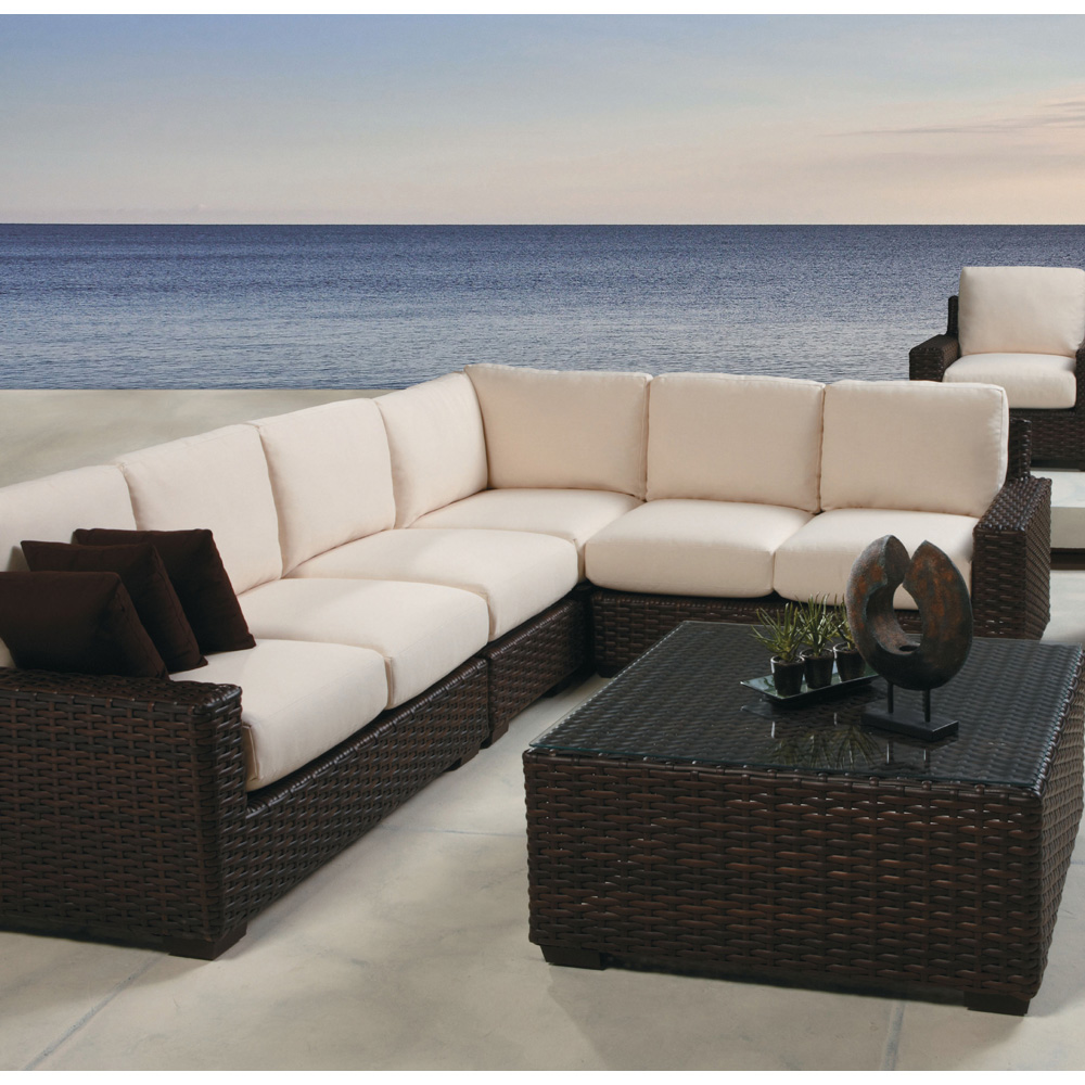 Lloyd Flanders Contempo Wicker L Shaped Sectional Set Lf
