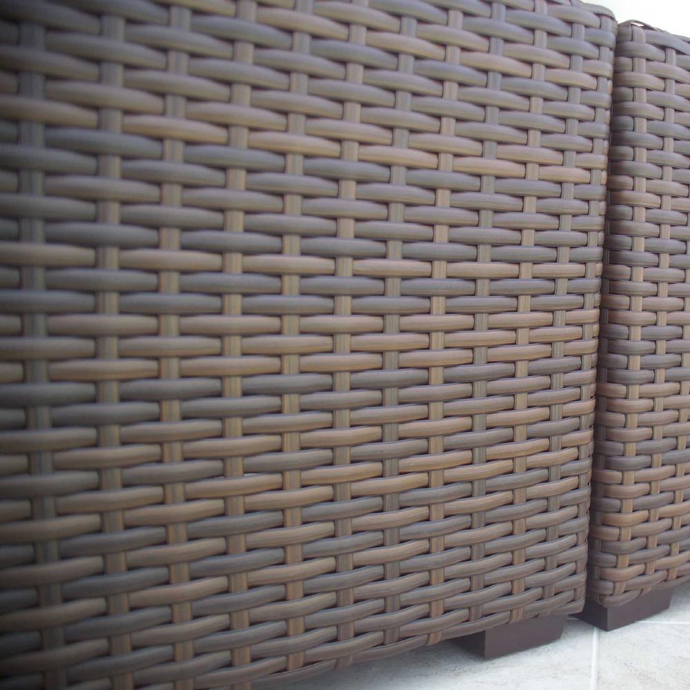 Lloyd flanders contempo right arm woven vinyl wicker loveseat 38051 - Contempo wicker outdoor furniture ...