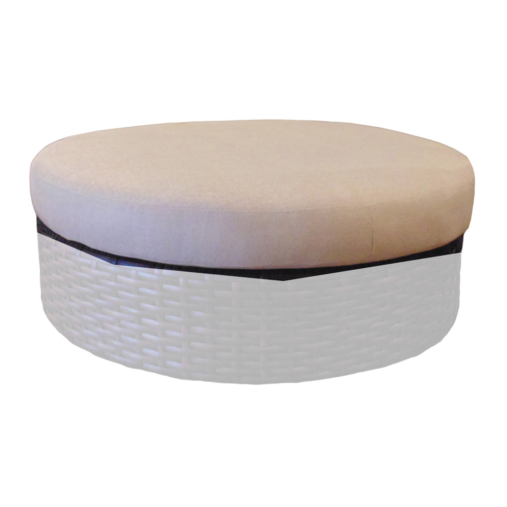 Lloyd Flanders Castered Round Ottoman Replacement Cushion