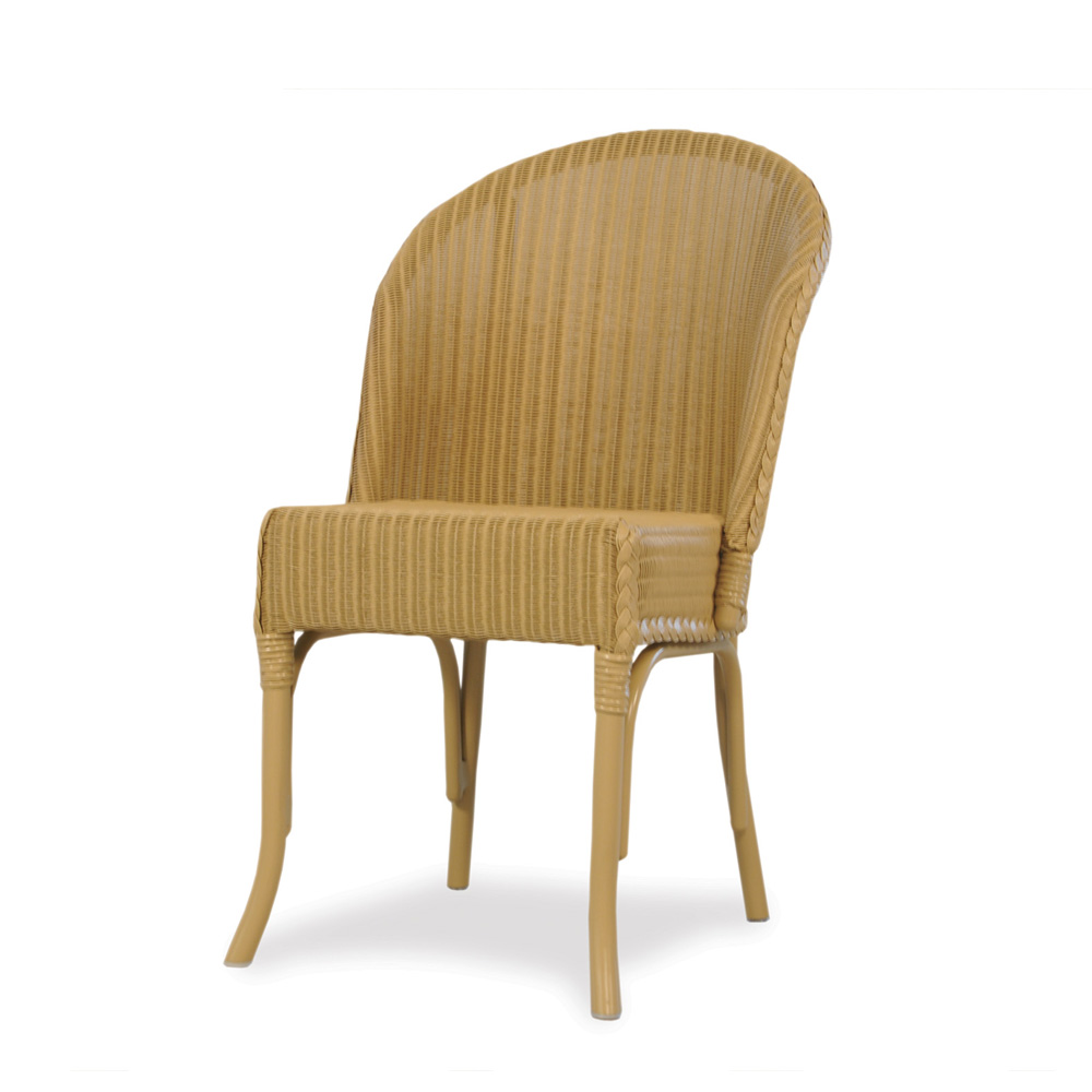 Lloyd Flanders Round Back Wicker Dining Chair - Lloyd flanders outdoor furniture