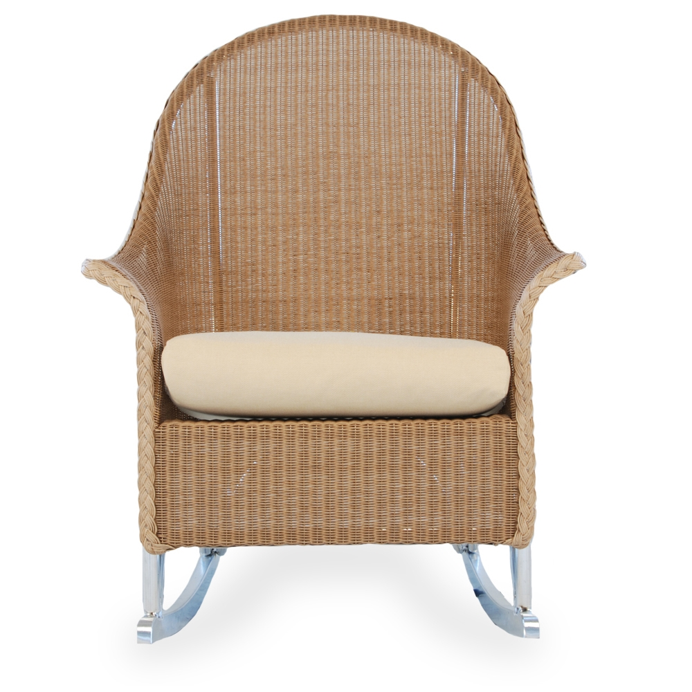 Lloyd Flanders Wicker Barrel Bar Chair 286007