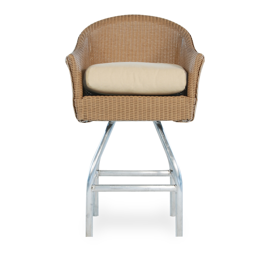 Lloyd Flanders Wicker Swivel Bar Stool 86206