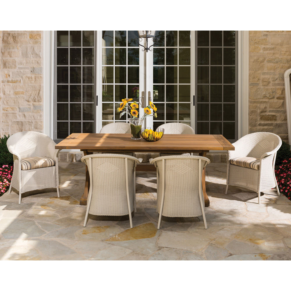 Lloyd Flanders Wicker Dining Chair with Curved Back 8007 : lf dining set4 from www.usaoutdoorfurniture.com size 1000 x 1000 jpeg 333kB