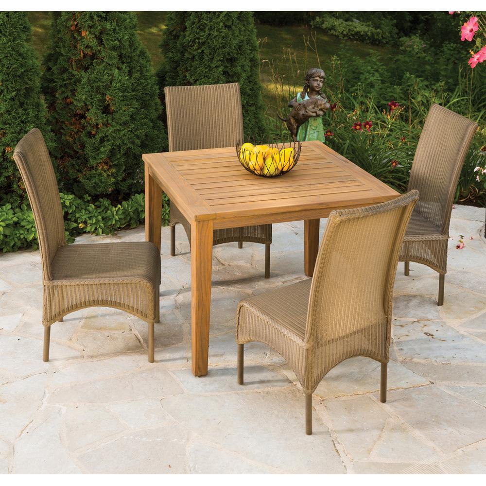 round back dining chair. Lloyd Flanders 5 Piece High Back Dining Set - LF-DINING-SET6 Round Chair