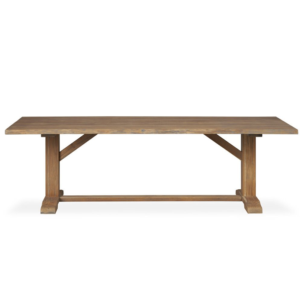 Lloyd Flanders Teak Live Edge Dining Table - 286097