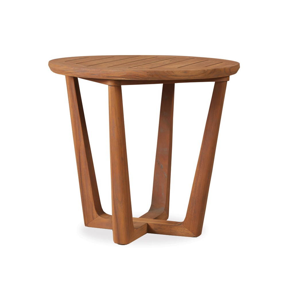 Lloyd Flanders Teak 24 Quot Round End Table 286124
