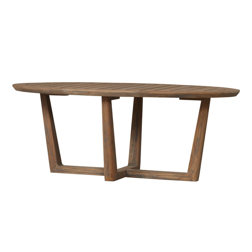 "Lloyd Flanders Teak 44"" x 24"" Oval Cocktail Table - 286344"