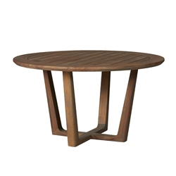 "Lloyd Flanders Teak 54"" Round Dining Table - 286354"