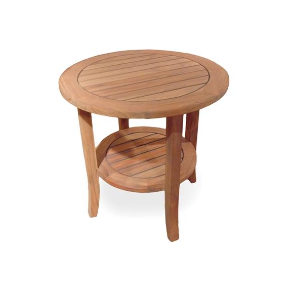 Lloyd Flanders 24 Quot Round Teak Tapered Leg End Table 286424