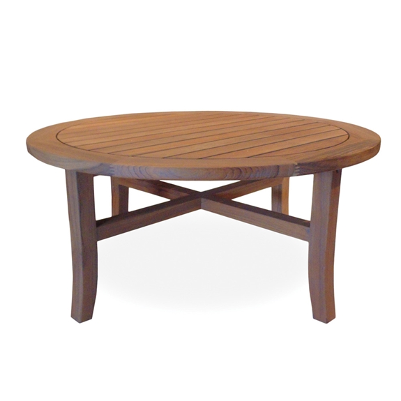 Lloyd Flanders 40 Round Tapered Leg Cocktail Table 286445