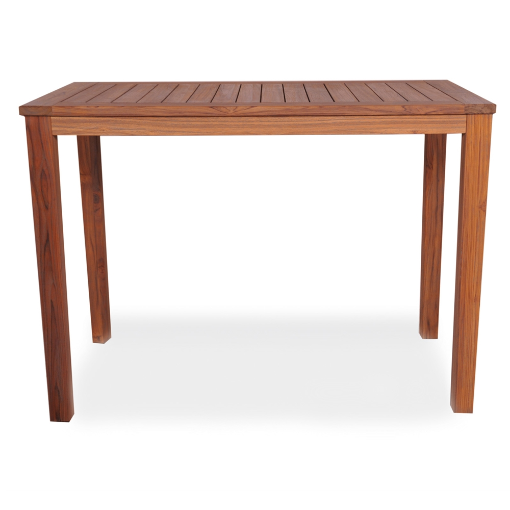 Lloyd Flanders Rectangular Tapered Leg Teak Bar Table 286456