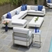 Lloyd Flanders Elements Loomed Wicker Sectional Outdoor Set - LF-ELEMENTS-SET10