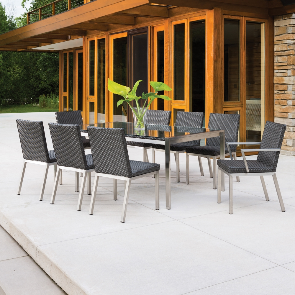 ... Elements Wicker 9 Piece Patio Dining Set   LF ELEMENTS SET6 ...