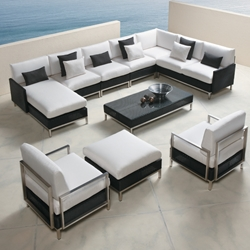 Lloyd Flanders Elements Large Sectional and Lounge Chairs Set - LF-ELEMENTS-SET5