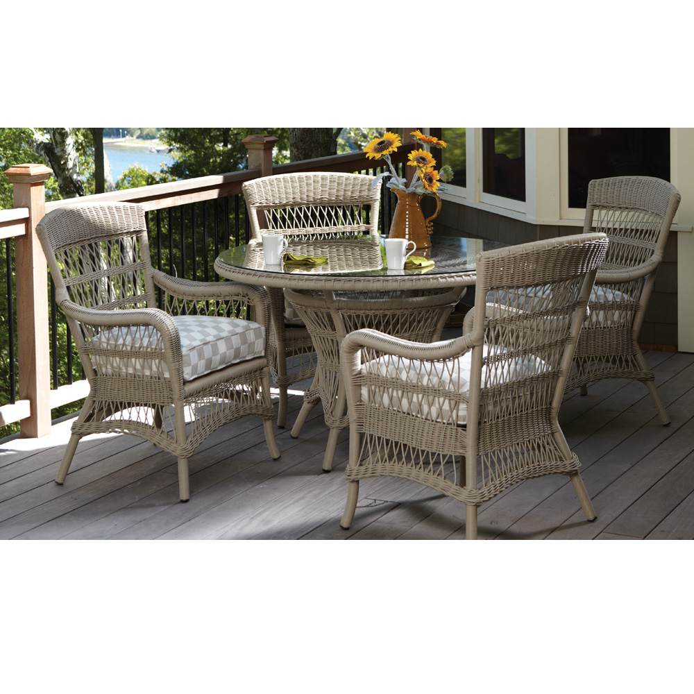Lloyd Flanders Fairhope 5 Piece Vinyl Wicker Dining Set - LF-FAIRHOPE-SET1