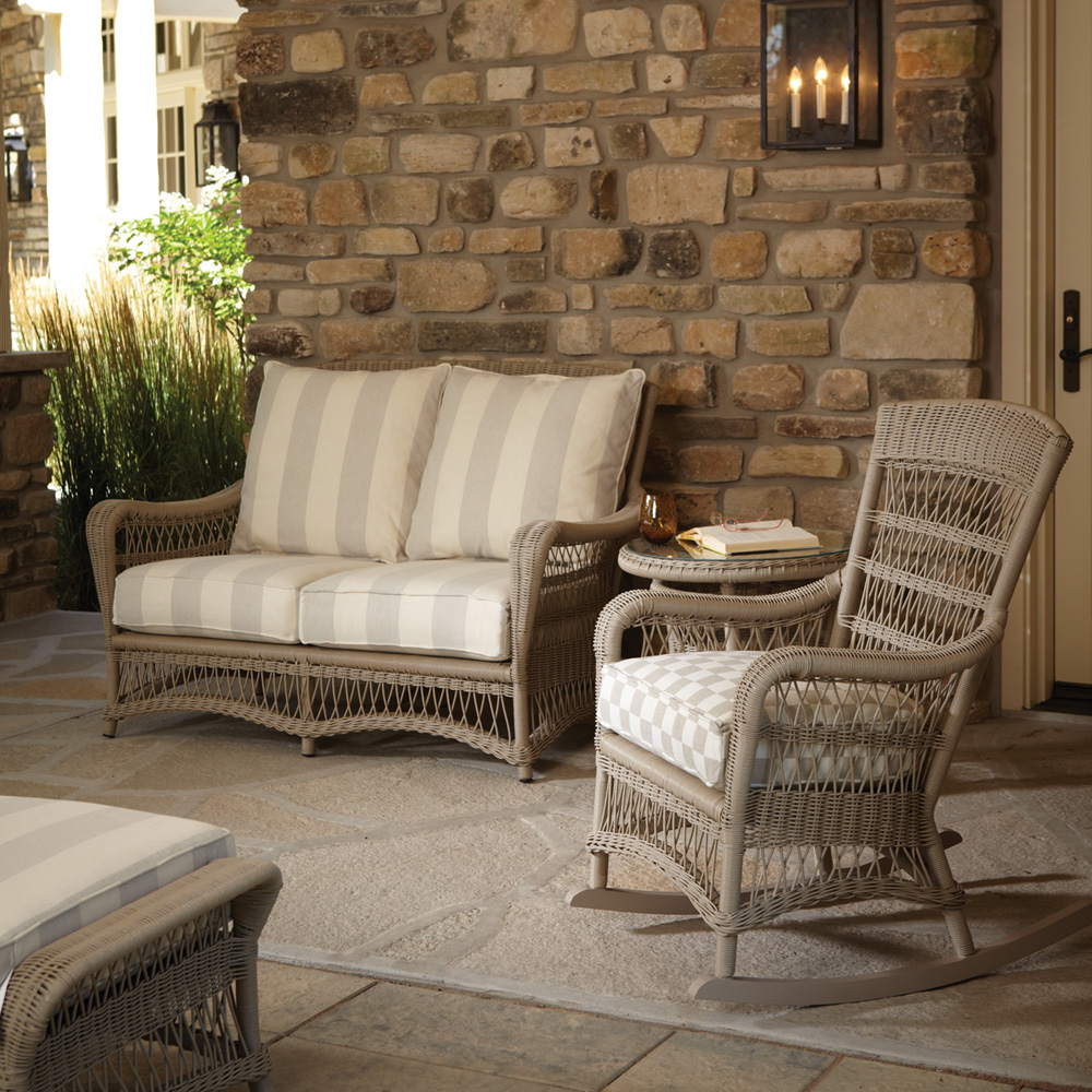 Lloyd Flanders Fairhope Vinyl Wicker Love Seat and Rocker Set - LF-FAIRHOPE-SET4