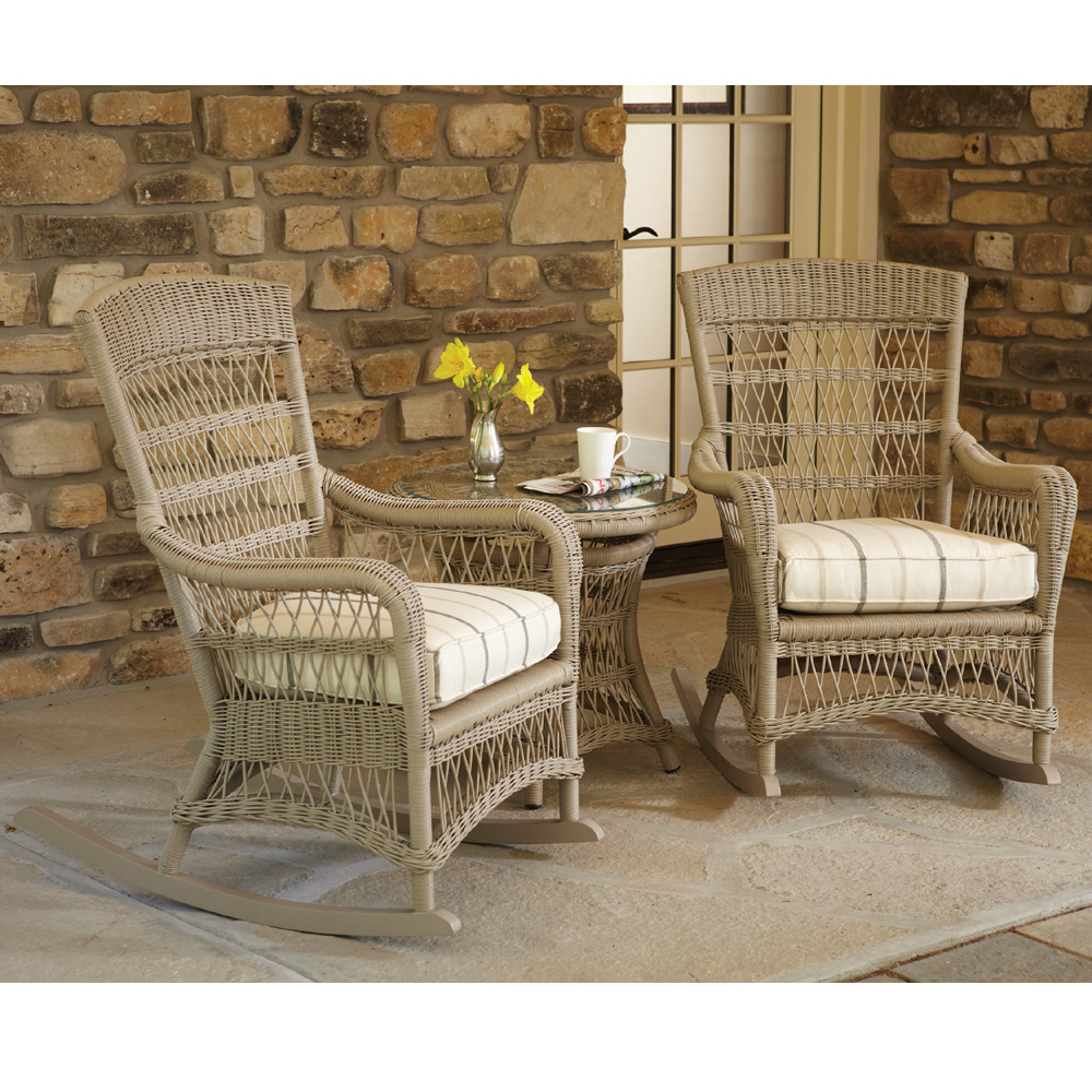 Lloyd Flanders Fairhope Vinyl Wicker Porch Rocker Set Lf Set5