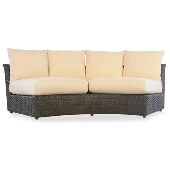 lloyd flanders flair woven vinyl curved sectional sofa