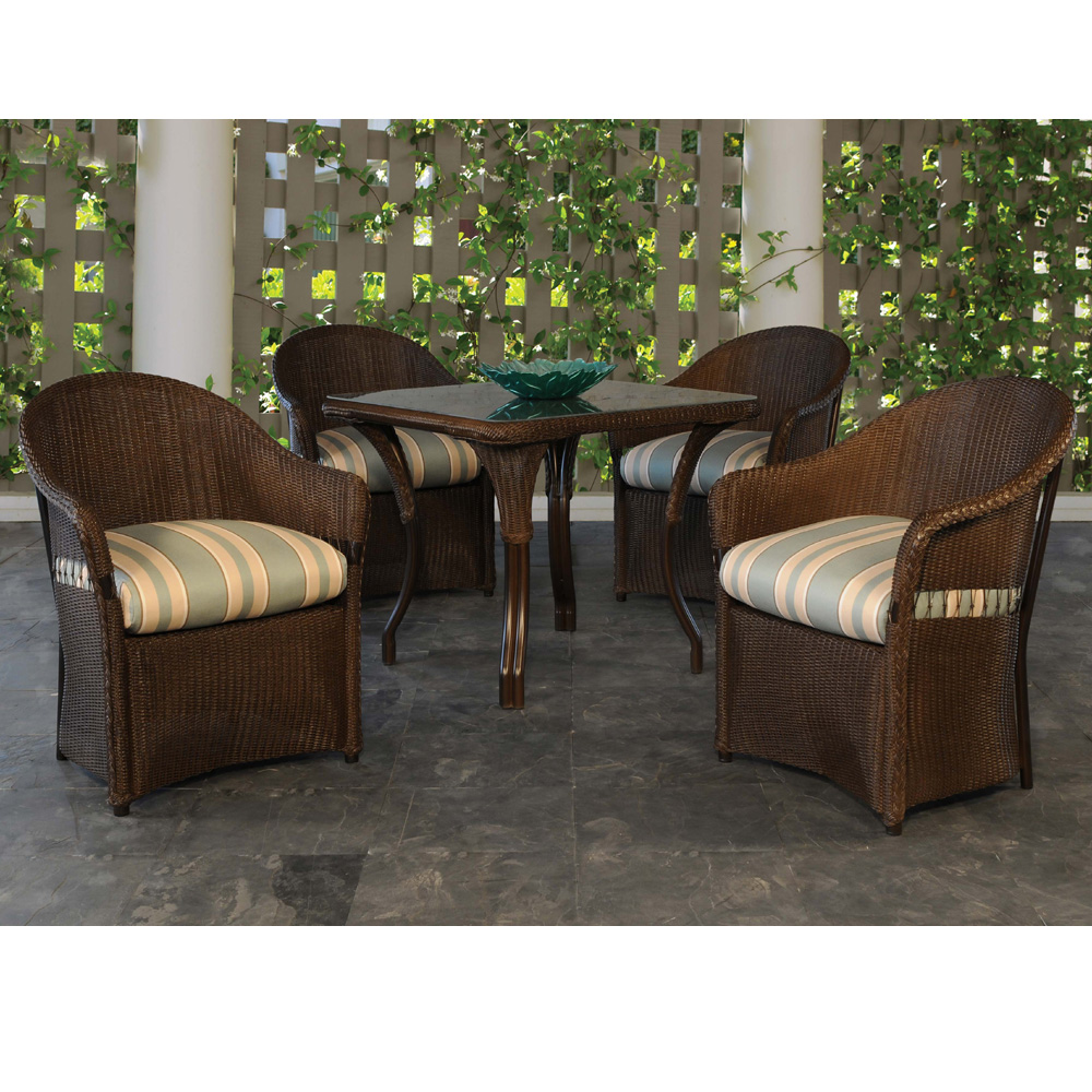 Lloyd Flanders Freeport 5 Piece Dining Set with Square Table - LF-FREEPORT-SET1