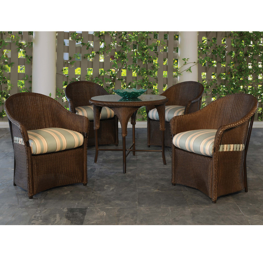 Lloyd Flanders Freeport 5 Piece Dining Set with Round Table - LF-FREEPORT-SET2