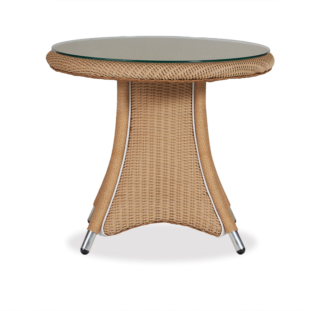 Lloyd Flanders Generations Round End Table W/Lay On Glass Top   128043 ·  Generations Round Wicker ...