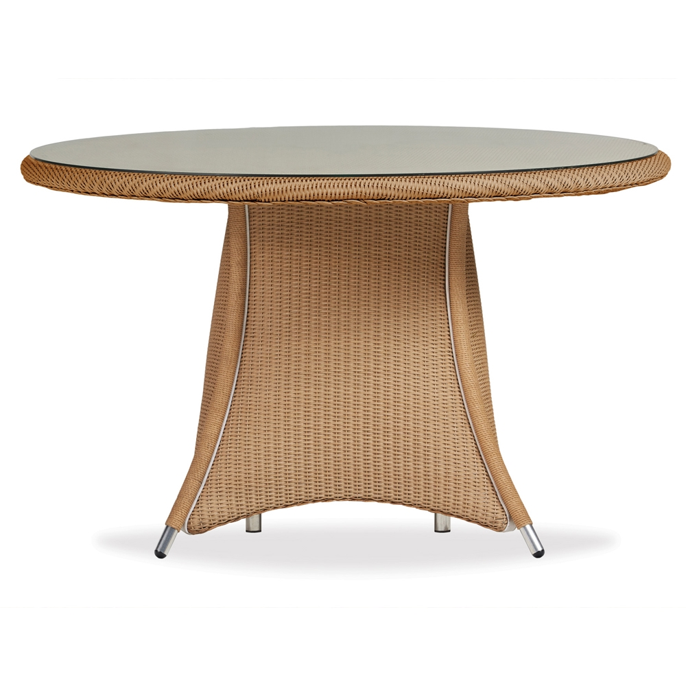 Lloyd Flanders Generations Wicker Round Dining Table With LayOn - 48 inch oval dining table