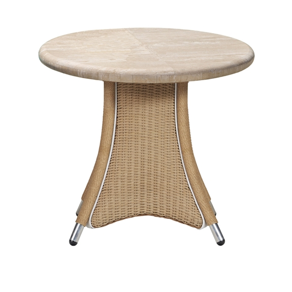 Lloyd Flanders Generations Round End Table w/Lt. Travertine Top - 128443