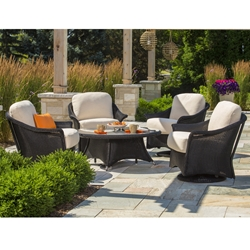 Lloyd Flanders Generations Swivel Glider Lounge Chair Set - LF-GENERATIONS-SET3