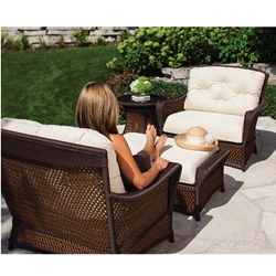 Lloyd Flanders Grand Traverse 4 Piece Patio Set - LF-GRANDTRAVERSE-SET3