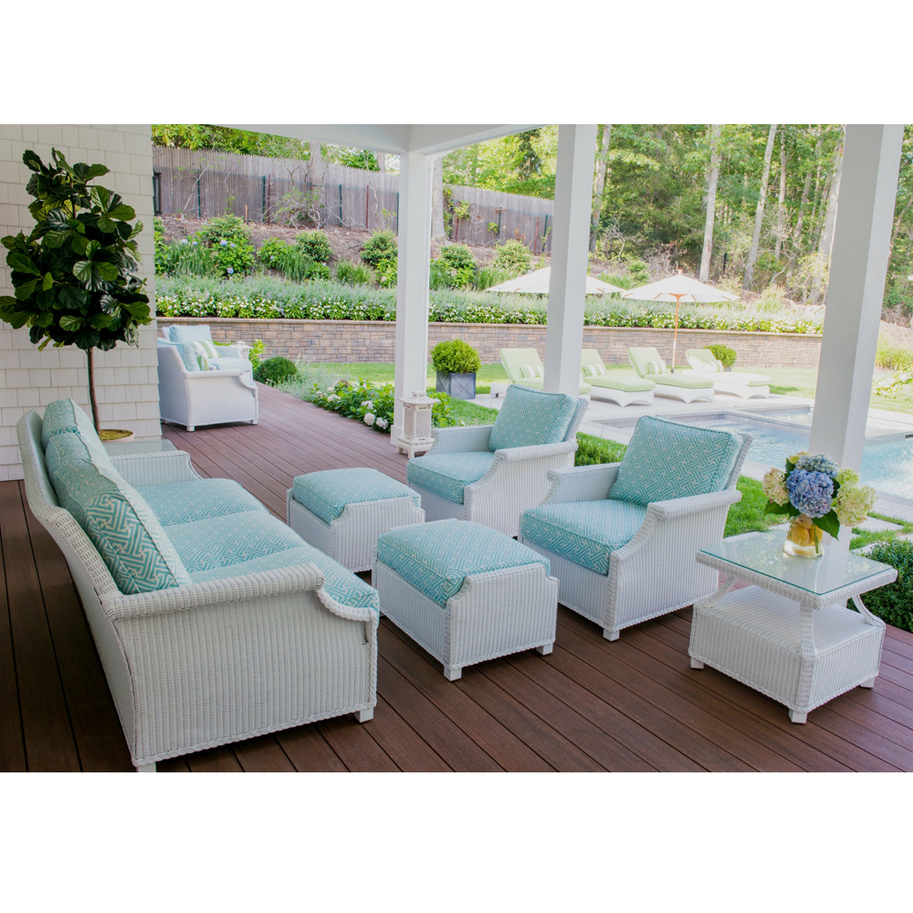 Lloyd Flanders Hamptons Sofa and Lounge Chair Wicker Patio Set - LF-HAMPTONS-SET13