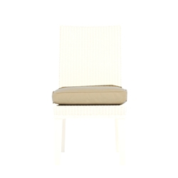 Lloyd Flanders Hamptons Armless Dining Chair Cushion - 15907