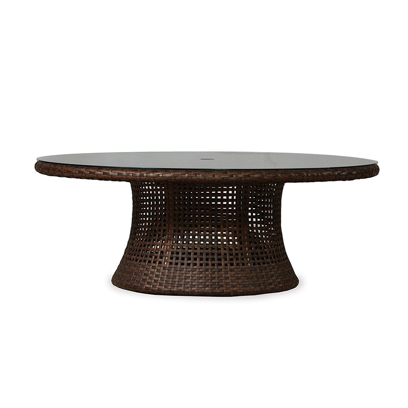 Lloyd Flanders Havana 48 Inch Round Conversation Table With Lay-On Glass Top - 262041