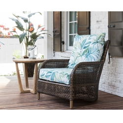 Lloyd Flanders Havana Lounge Chair and Teak Table Set - LF-HAVANA-SET6