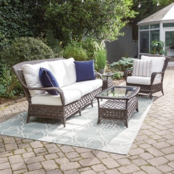 Lloyd Flanders Haven Wicker Sofa and Lounge Chair Set - LF-HAVEN-SET8