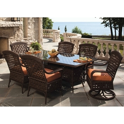 Lloyd Flanders Haven 7 Piece Patio Dining Set - LF-HAVEN-SET1