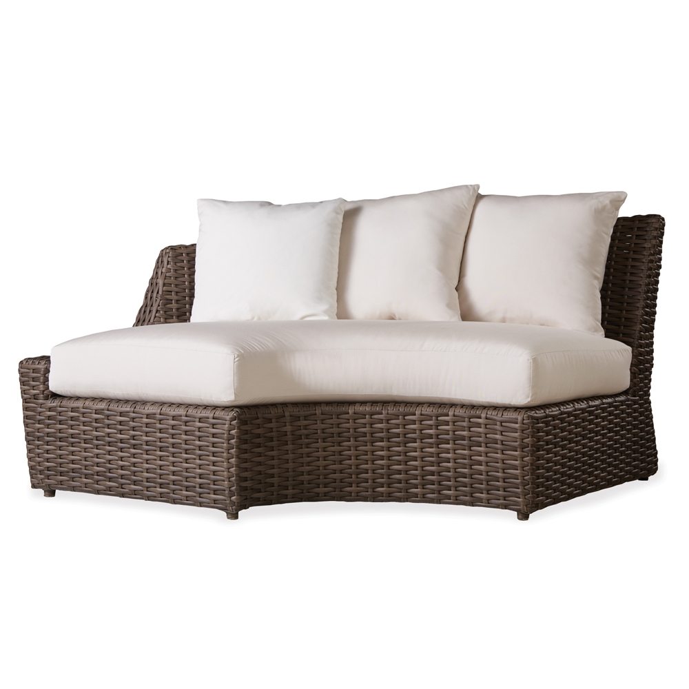 Lloyd Flanders Largo Right Curved Vinyl Wicker Sectional