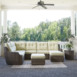 Lloyd Flanders Largo Wicker Sectional with Chaise - LF-LARGO-SET7