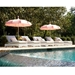 Double Adjustable Wicker Pool Chaise - 6040